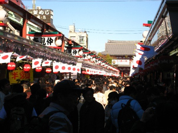 the Japanese market leading up to the temple