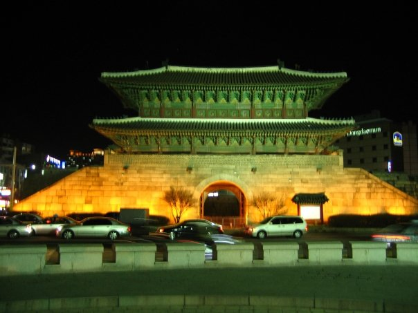 The Dongdaemun Gate at night..