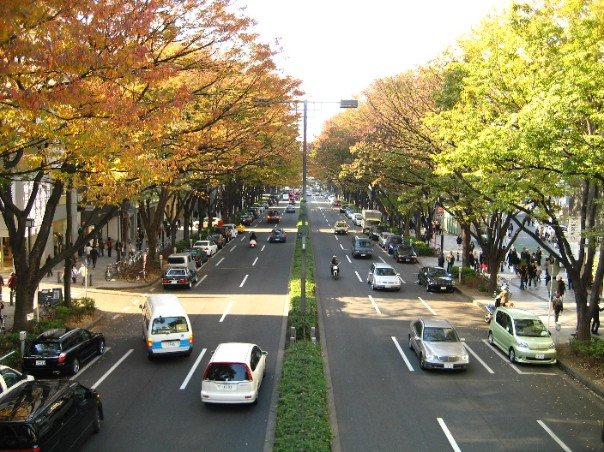 Bridge above road in Harajuku