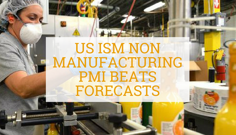 US ISM Non Manufacturing PMI Beats Forecasts