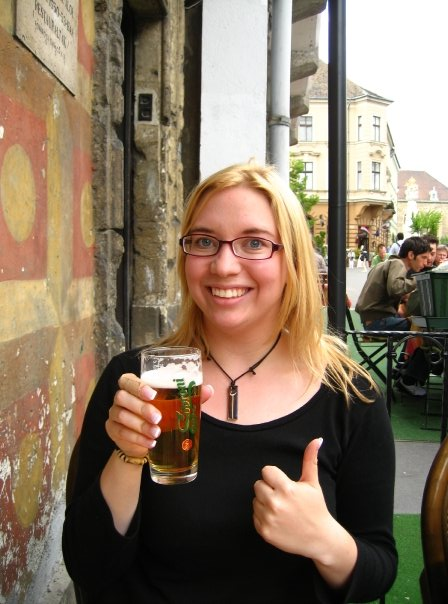 Me and my first Hungarian beer