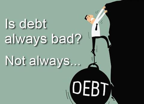 """NEW CONTRIBUTOR: """"Is Debt Always Bad? Not Always."""""""