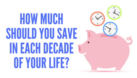 How Much Should You Save In Each Decade of Your Life?