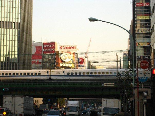 the Yamanote line!! runs around Tokyo aboveground