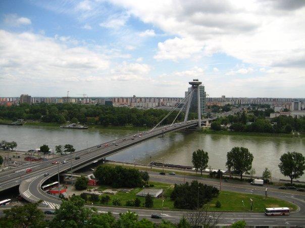 looking across the Danube