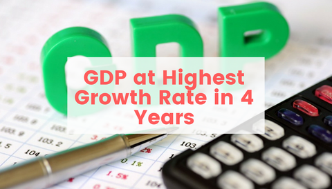 US GDP Highest Growth Rate in 4 Years