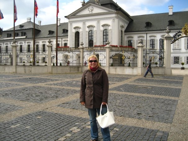 me in front of the Presidential Palace