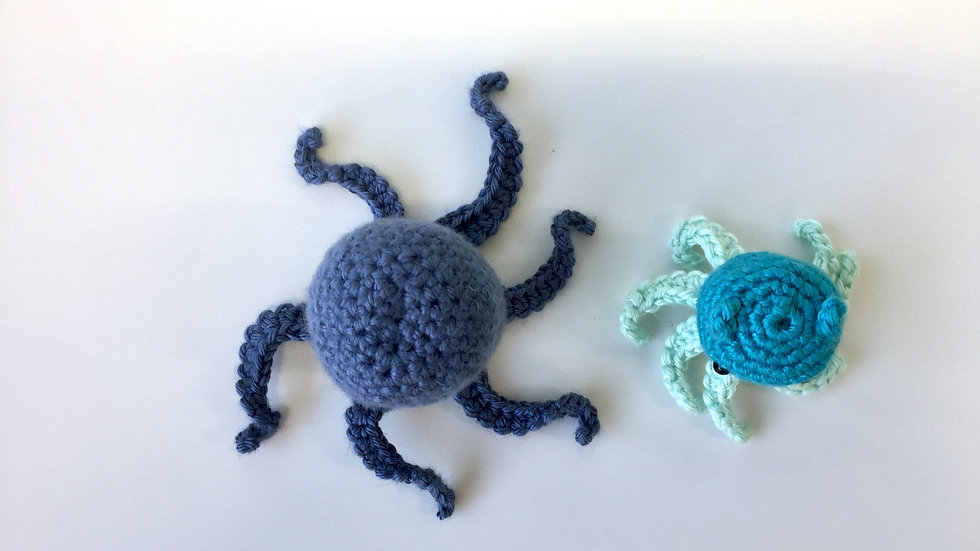 Mini & Small Tentacle Octopi Set of 2