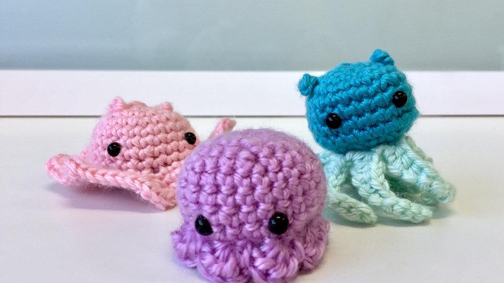 Mini Octopi Family Set of 3
