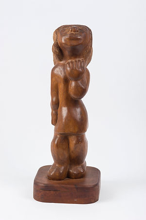 Shirley Gorelick sculpture wood woman curvey folky