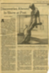"Shirey, David L. ""Discoveries Abound in Show at Post."" Art. New York Times, June 21, 1981."