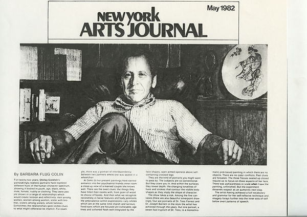Colin, Barbara Flug. New York Arts Journal. May, 1982.