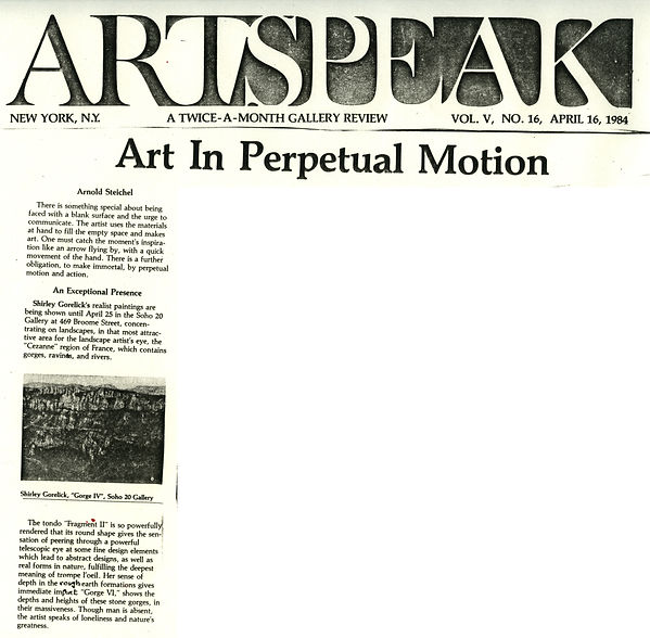 "Steichel, Arnold. ""Art in Perpetual Motion."" Artspeak 5, no. 16 (April 16, 1984)."