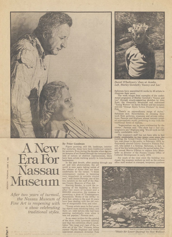 "Goodman, Peter. ""A New Era for Nassau Museum."" Newsday, June 5, 1980."