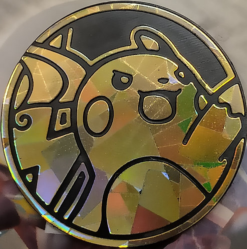 Pokemon Raichu Collectible Coin (Cracked Ice Holofoil)