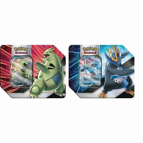 Pokemon: Tyranitar & Empoleon V Strikers Tin (Set of 2) (PREORDER)