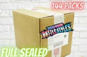 Pokemon TCG Battle Styles Sleeved Booster CASE 144 Packs Total