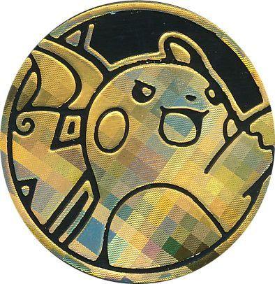 Pokemon Raichu Collectible Coin (Gold Pixel Holofoil) Shining Legends