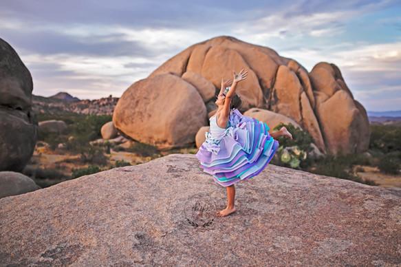 Dancing in Joshua Tree National Park, CA