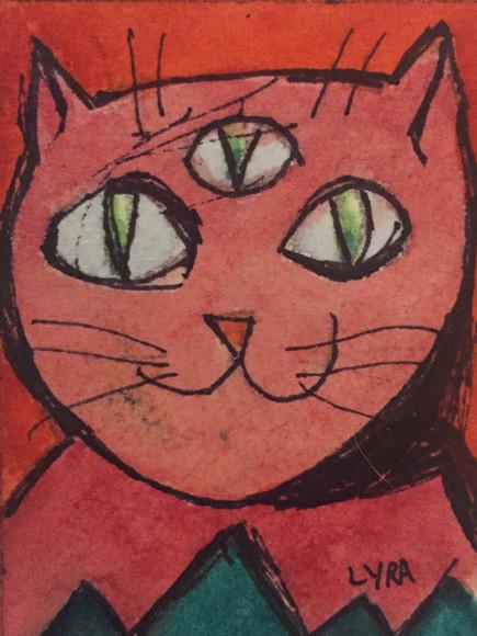 Rose Illuminati Cat