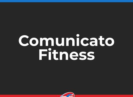 Comunicato Fitness e attività amatoriali