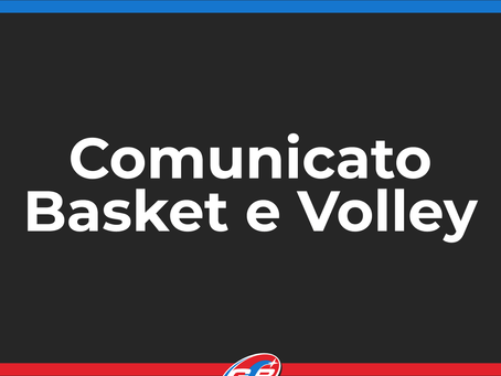 Comunicato Basket e Volley