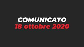 Comunicato 18 ottobre 2020