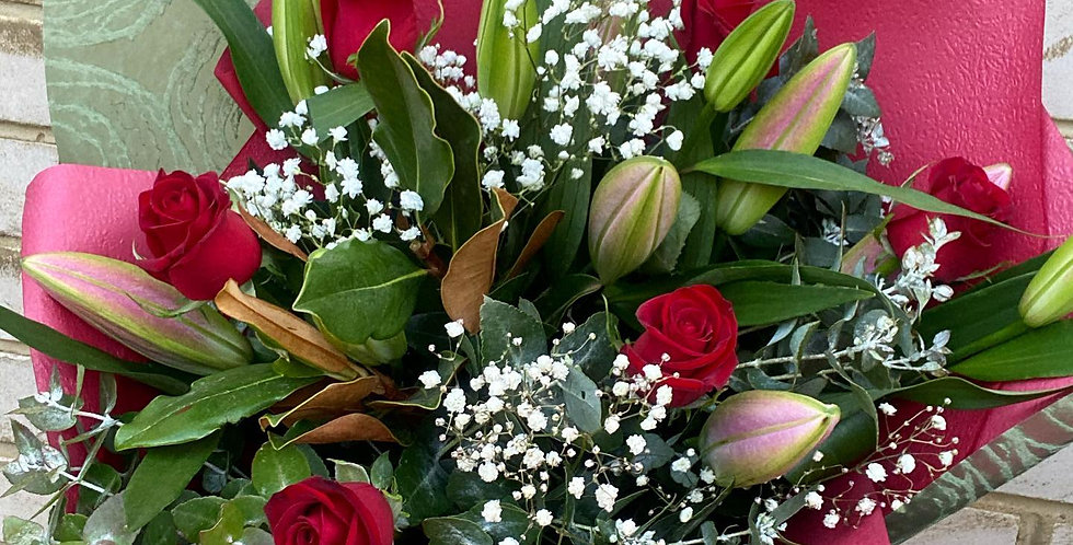 Lover   Roses and Oriental Lilies
