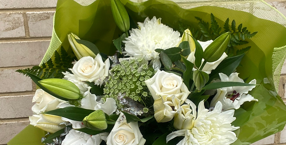 Green and White Bouquet | Florist Choice