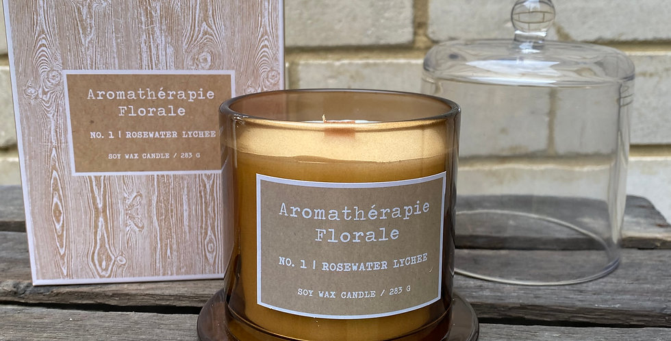 Rosewater Lychee Soy Wax Candle