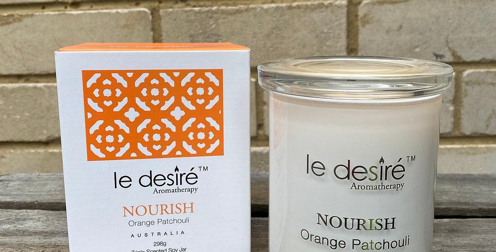 Orange Patchouli Soy Wax Candle