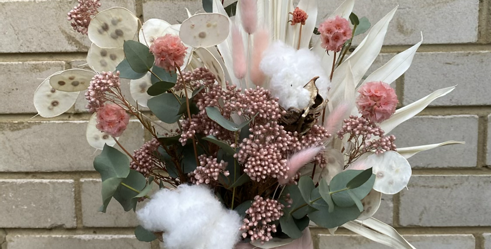 Pink and Creams   Dried Arrangement