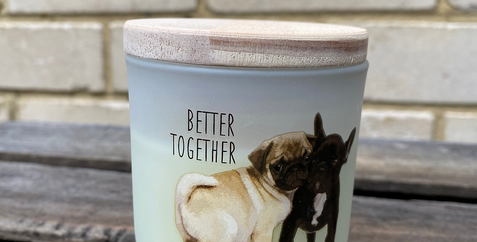 Better Together Puppy Candle