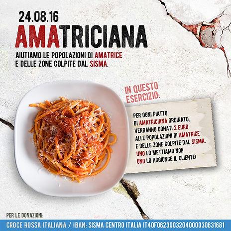 #AMAtriciana: solidarietà con le popolazioni colpite dal terremoto | Osteria dell'Arco Ristorante a Roma