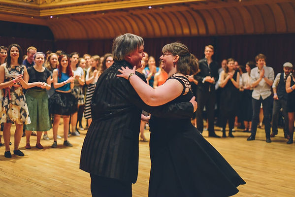 Jamie and Katie dancing at University ofS Swing 2018