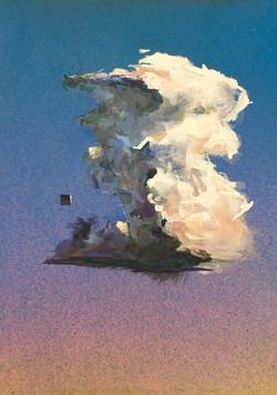 Chance Encounter- Gouache and Acrylic on