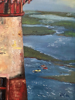 Morris-Island-Lighthouse-oil-painting-by