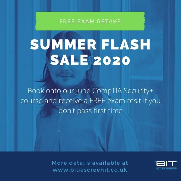 CompTIA Security+ training offer by BluescreenIT