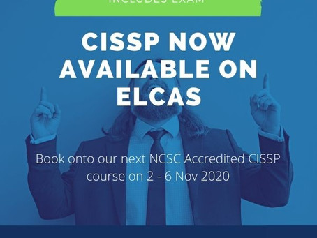 CISSP Training now available on ELCAS