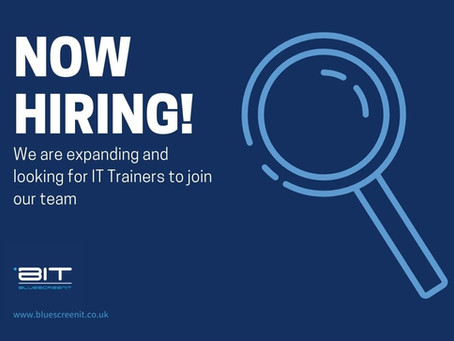 IT Trainers, we are now hiring!