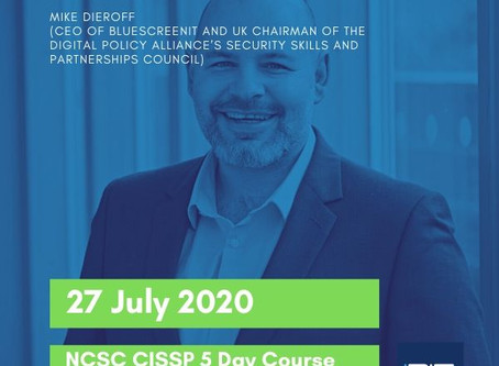 Special Offer on our Virtual Masterclass NCSC CISSP course on 27 July for £995 +  VAT
