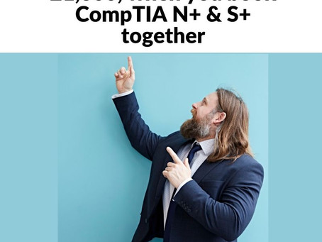 Grab our CompTIA Network+ and Security+ offer and learn from Home
