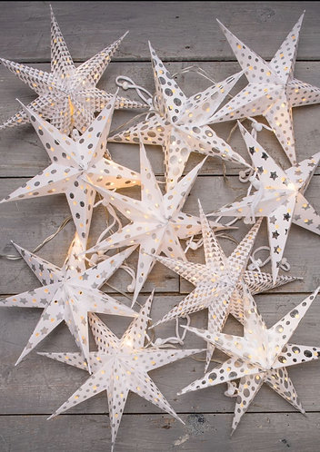 Recycled Paper LED Star Chain