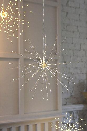 Silver Hanging Starburst Light
