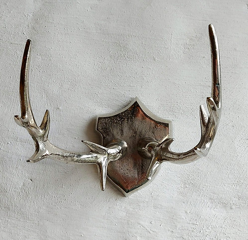 Wall Mounted Silver Antlers