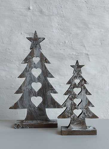 Wooden Tree Decorations - Two sizes available