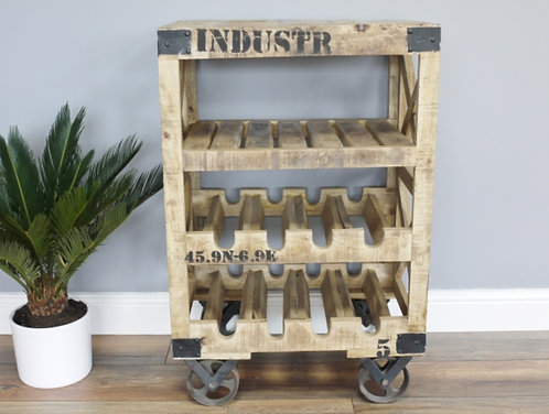 Industrial Wine Trolley