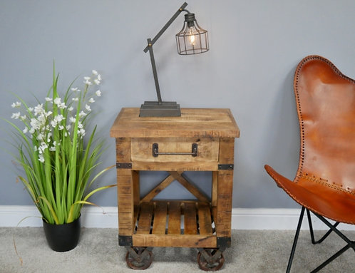 Industrial Style Table with Drawer
