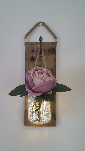 Rustic Wall Decor (dusky pink rose)