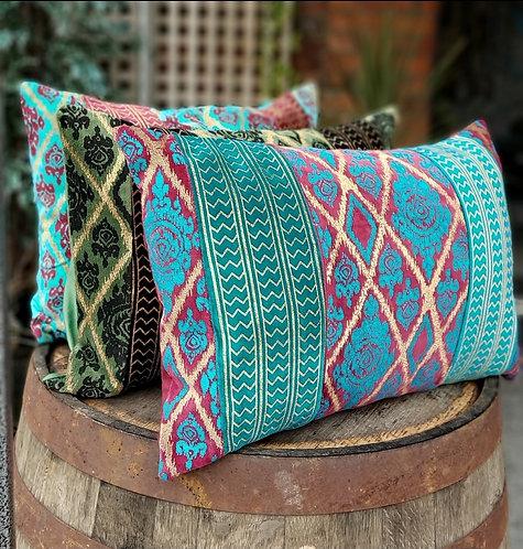 Handprinted Velvet Cushions